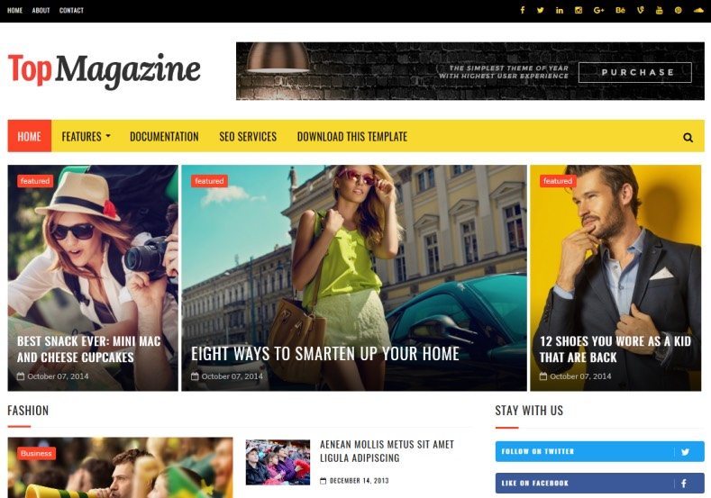 Top Magazine Blogger Template High Quality Free Blogger Templates - fashion blogger templates