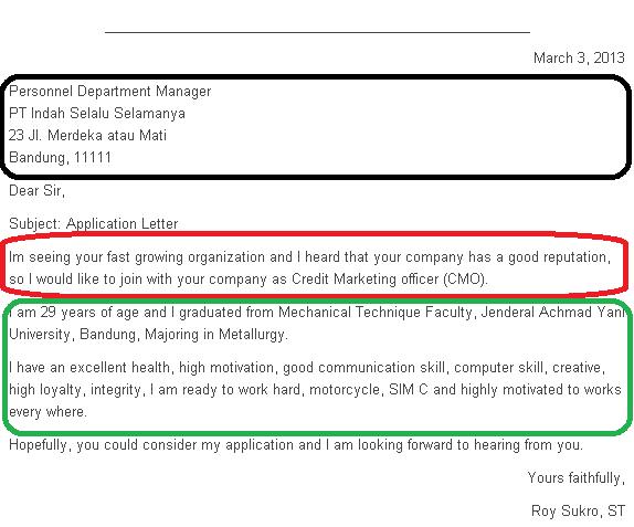 Contos Dunne Communications Application Letter Contoh