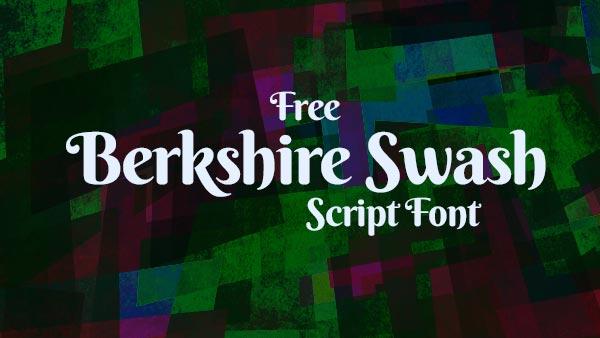Download Gratis 10 Script Font terbaru 2016 - Berkshire Swash Free Script Font