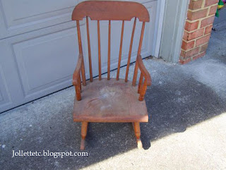 Wendy Slade's rocking chair from 1952 http://jollettetc.blogspot.com