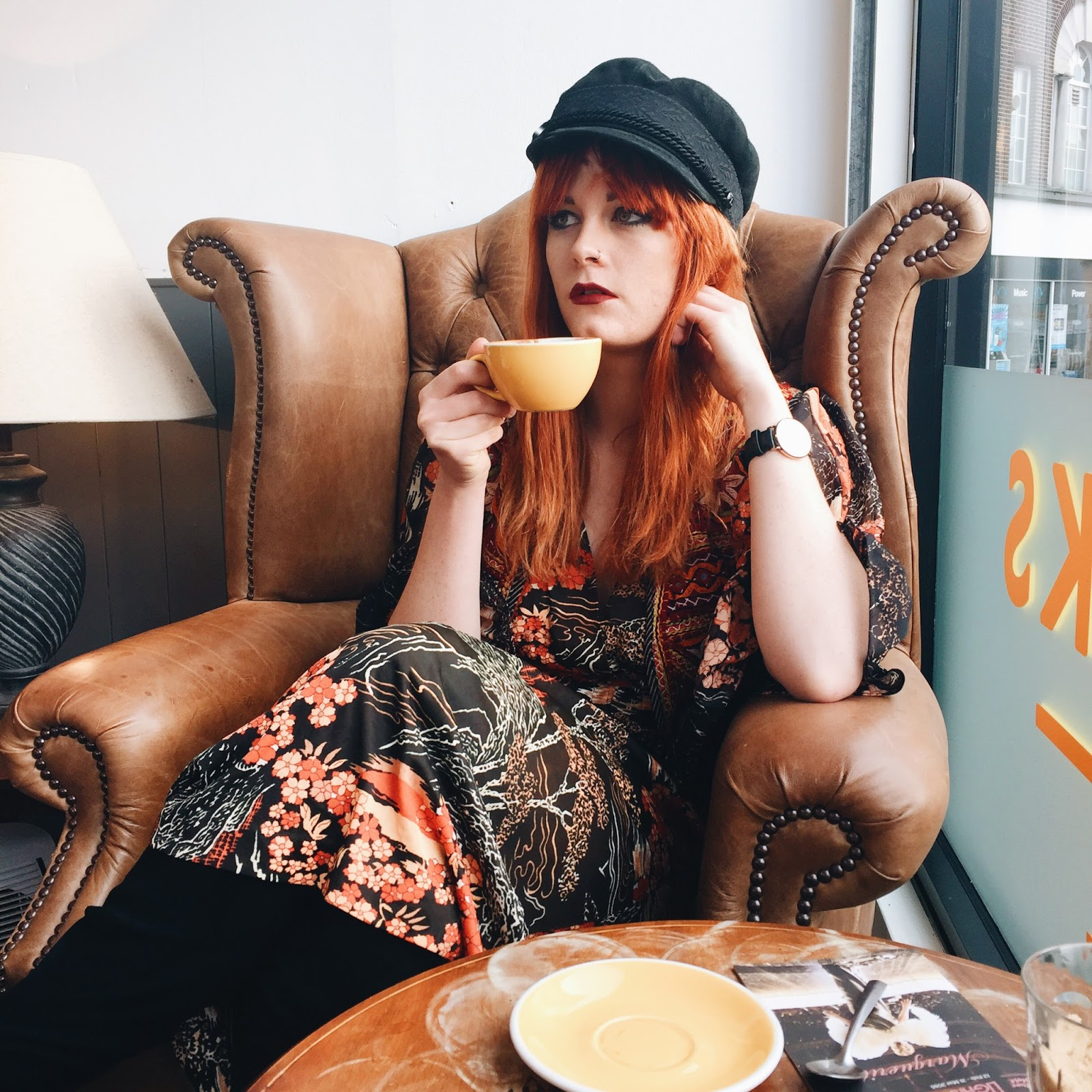 Vintage 70s Style Fashion Blogger Ginger Hair