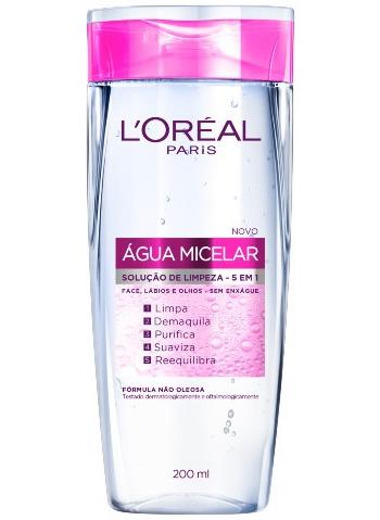 Água Micelar solução de limpeza para face lábios e olhos da L'Oréal