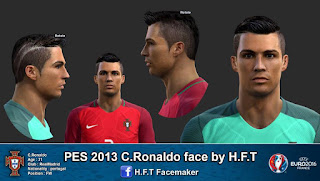 Face Cristiano Ronaldo 2016 PES 2013 by H.F.T