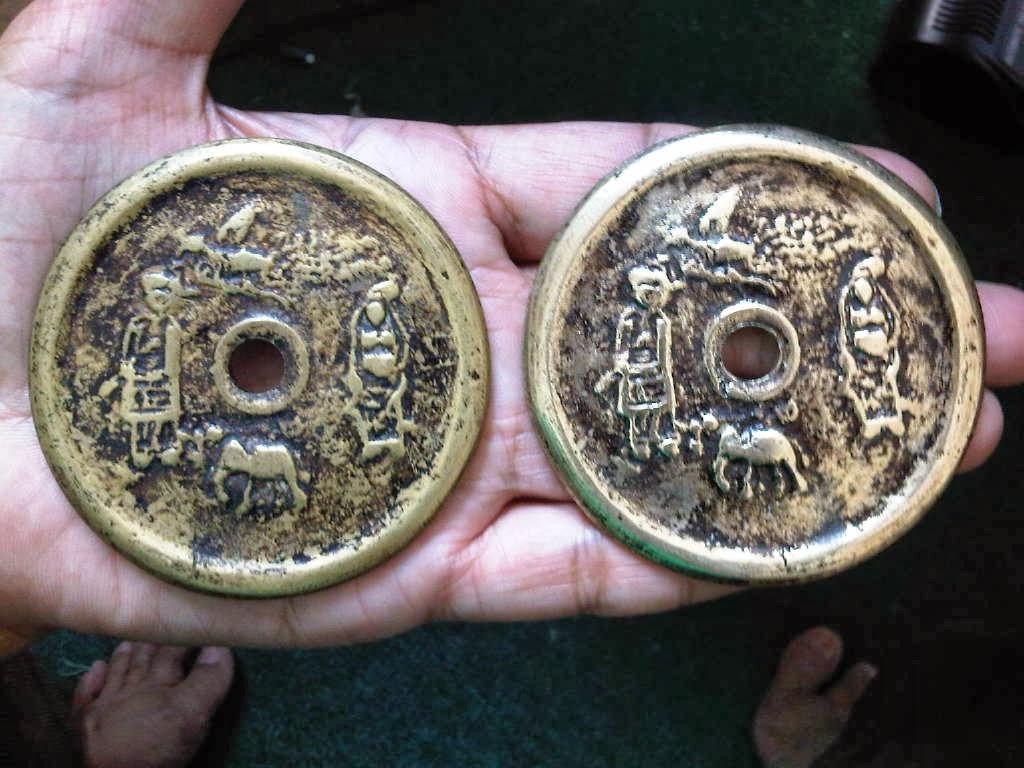 Duit Syiling Yasin Very Rare  2 koin gobog wayang motif