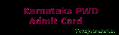 Karnataka PWD Admit Card 2016 Jr Engineer (JE) Call Letter