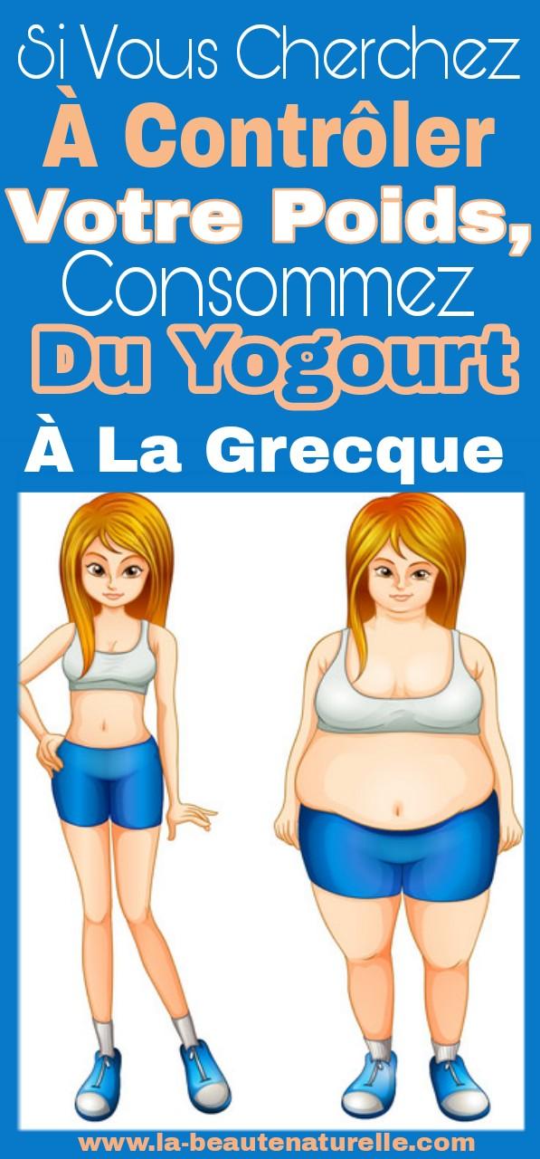 Si vous cherchez à contrôler votre poids, consommez du yogourt à la grecque