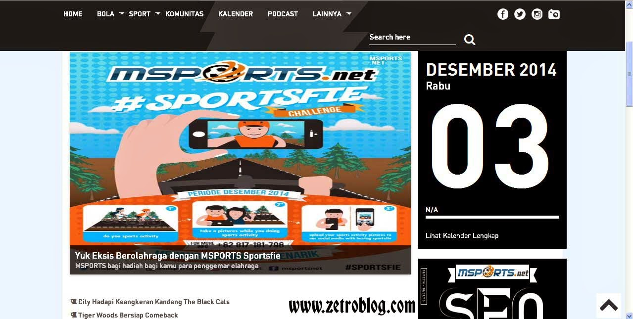 Zetroblog.com | MSPORTS.net Portal Berita Bola dan Olahraga Terkini