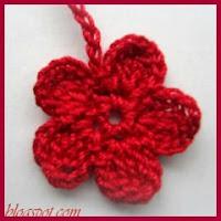 Flor de 5 petalos a crochet