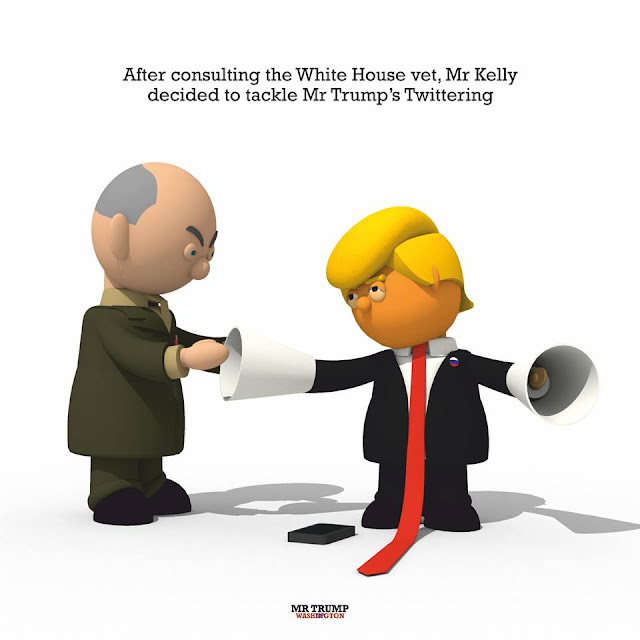 After consulting the White House vet, Mr Kelly decided to tackle Mr Trump's Twittering