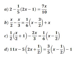 ecuaciones con parentesis y denominadores ejercicios