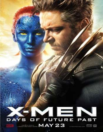 Poster Of X-Men Days of Future Past 2014 Hindi Dual Audio 650MB BluRay 720p ESubs HEVC Free Download Watch Online downloadhub.in