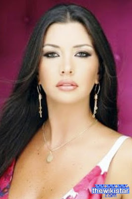 Lamita Franjieh, fashion model, presenter and actress Lebanese, Miss Lebanon 2004, born November 15, 1981 in Zgharta Lebanon.