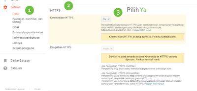 Cara Aktifkan Https (SSL) di Blogger Custom Domain