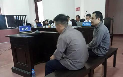2 bị cáo tại phiên tòa phúc thẩm