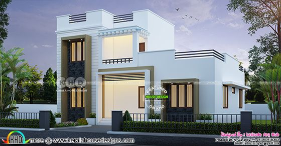 ₹26.5 lakhs cost estimated 3 bedroom house plan