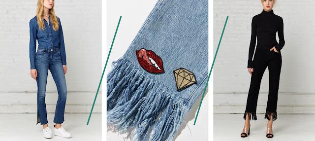 Fringe Denim Crop Bell Flare Jeans Trends 2017