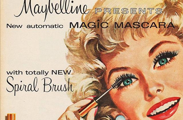 Publicité du premier mascara automatic Maybelline - Blog beauté Les Mousquetettes