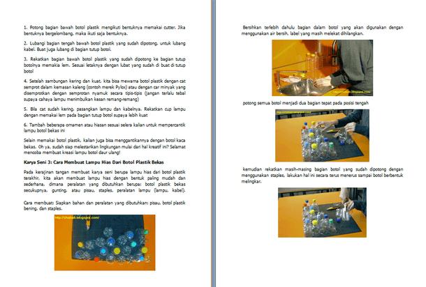Contoh Makalah Prakarya dan Kewirausahaan Kerajinan Tangan Membuat Lampu Hias dari Botol Bekas