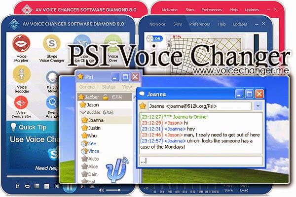 screenshot of Psi voice changer software
