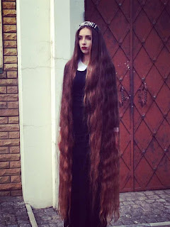 floor length hair