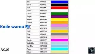 KODE warna HTML di FB