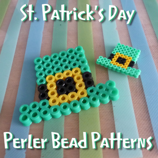 Saint Patrick's Perler beads Irish Hama fused beads