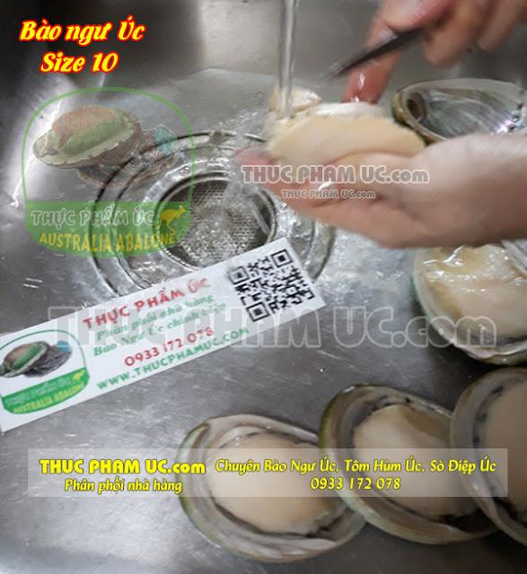 cách rửa lấy thịt bào ngư