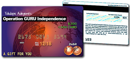 Free $300 Gift Cards Giveaway Courtesy Operation GURU Independence