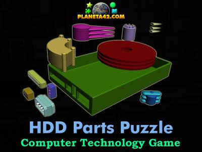 Части на твърд диск игра за конструиране