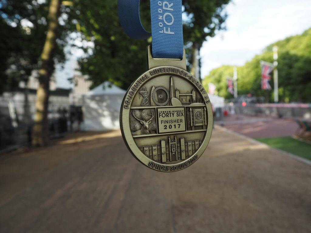 Ride London 46 Medal