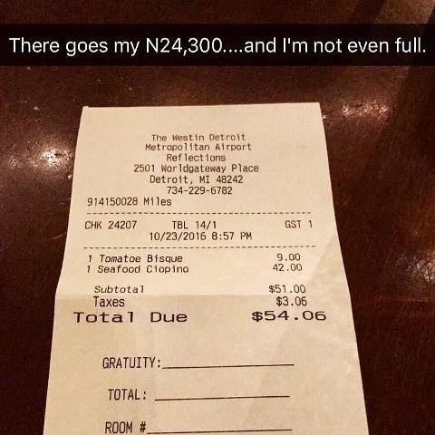 Basketmouth shares his 'expensive' restaurant bill, asks an hilarious question