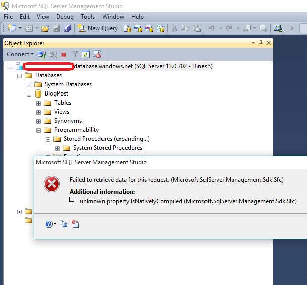 """Error Log: Dinesh's Blog :::: Being Compiled ::::: """"Failed To"""