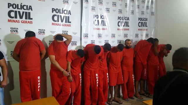 Polícia Civil prende grupo criminoso envolvido no tráfico e roubos em Betim