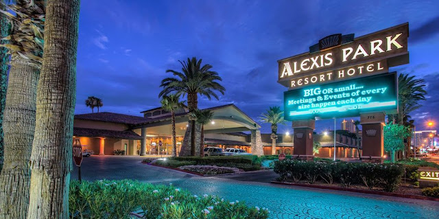 Discover a tranquil oasis in the heart of Las Vegas at Alexis Park Resort. Conveniently located three minutes from The Strip, this family-oriented property is the only all-suite non-gaming hotel in the city.