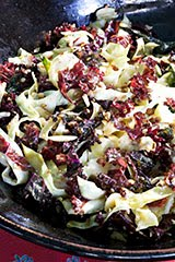 Green Cabbage & Red Curly Kale Slaw w/ Orange Sesame Dressing