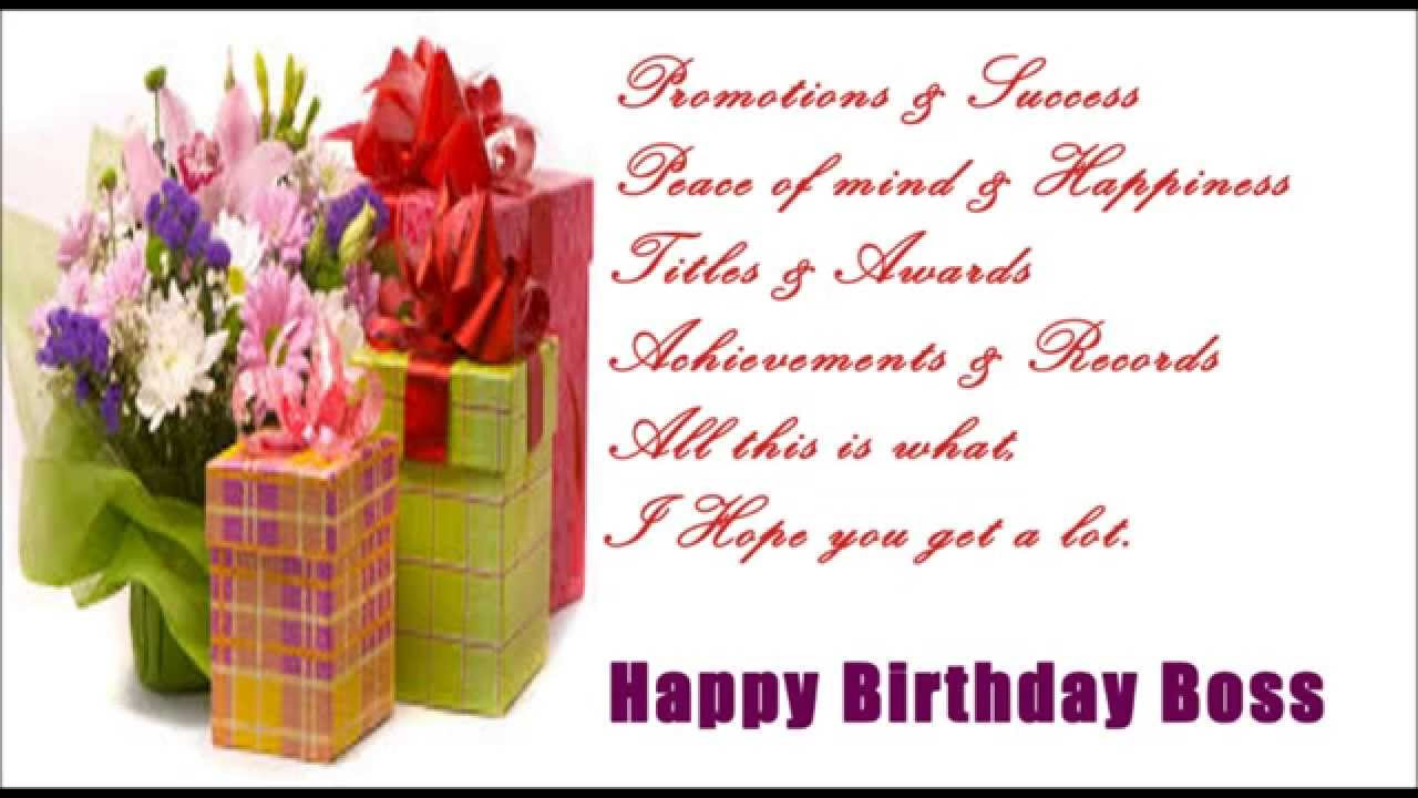Top 31 Images Of Birthday Wishes For Boss Wishes Quotes