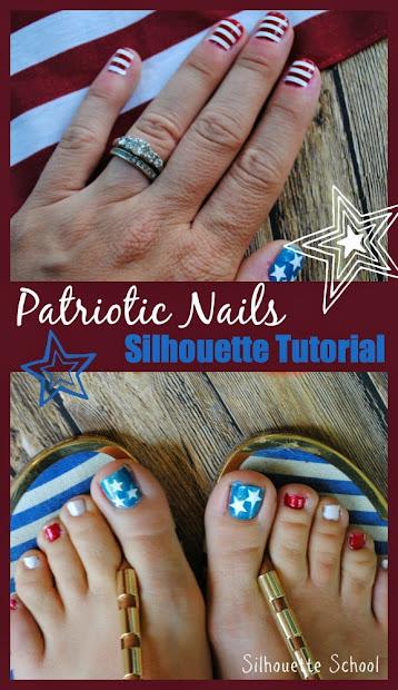 diy patriotic nails tutorial