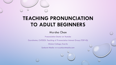 Teaching English Pronunciation to Adult Beginners