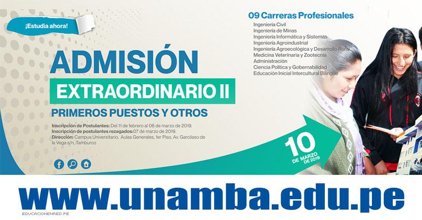 Resultados UNAMBA 2019-2 (10 Marzo) Lista Ingresantes - Examen Admisión Extraordinario II - Universidad Nacional Micaela Bastidas de Apurímac - www.unamba.edu.pe