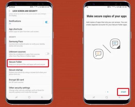 cara mengaktifkan folder aman di Samsung Galaxy S8