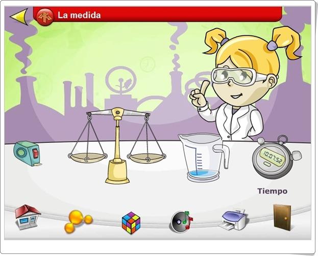"""""""El laboratorio de los experimentos"""" (Medidas de 3º y 4º de Primaria)"""