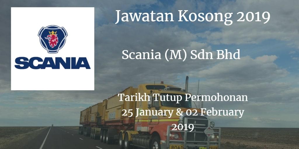 Jawatan Kosong Scania (M) Sdn Bhd 25 January & 02 February 2019