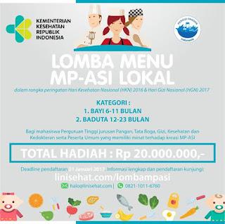 Lomba MP-ASI Lokal dari Kemenkes 2017