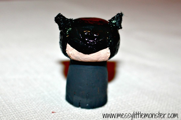 How to make a Batman figure craft idea for kids