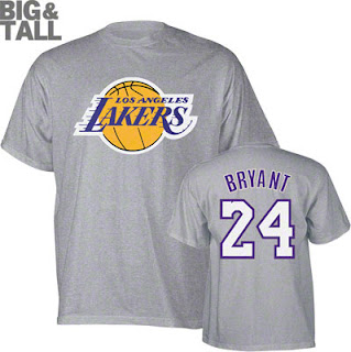 Kobe Bryant Los Angeles Lakers Big and Tall T-Shirt Jersey