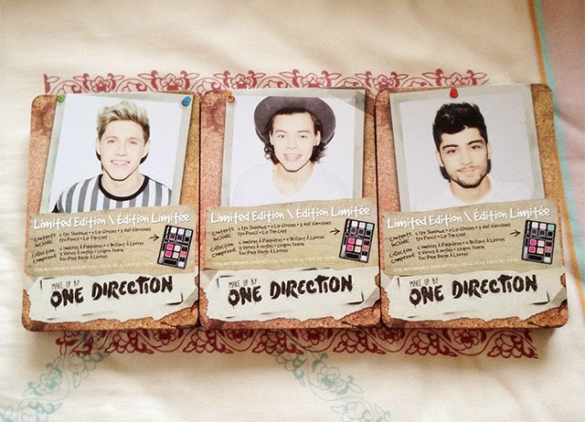 Makeup by One Direction Tins: Niall Horan, Harry Styles, Zayn Malik - Photo Credit: Intrice Blog