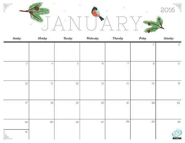 Favorito 2016 | Ecco 4 calendari da stampare (a)gratis - BLOG ARREDAMENTO ND55