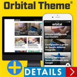 Orbital Theme es una plantilla de Wordress con cluster y altamente calificada para uso page mobile.