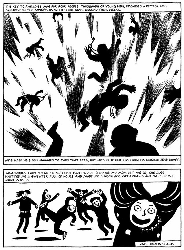 Read Chapter 13 - The Key, page 100, from Marjane Satrapi's Persepolis 1 - The Story of a Childhood