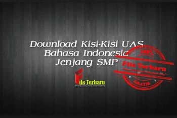 Download Kisi-Kisi UAS Bahasa Indonesia Jenjang SMP